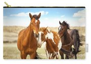 Wild Herd Of Mustang Horses Carry-all Pouch