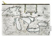 Great Lakes Map, 1755 Carry-all Pouch