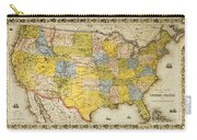 United States Map, 1866 Carry-all Pouch