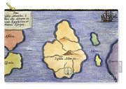 Map Of Atlantis, 1678 Carry-all Pouch