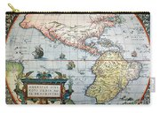 New World Map, 1570 Carry-all Pouch