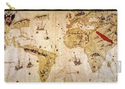 Vespucci's World Map, 1526 Carry-all Pouch
