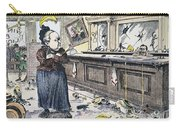 Carry Nation Cartoon, 1901 Carry-all Pouch by Granger