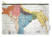 India: Map, 19th Century Carry-all Pouch