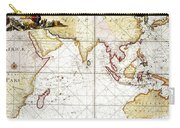 Indian Ocean: Map, 1705 Carry-all Pouch