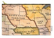 Kansas-nebraska Map, 1854 Carry-all Pouch