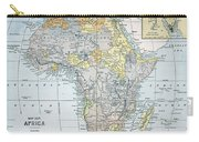 Map: Africa, 19th Century Carry-all Pouch