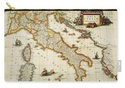 Map Of Italy, 1631 Carry-all Pouch