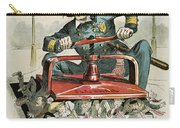 Police Corruption Cartoon Carry-all Pouch