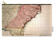 Colonial America Map, 1733 Carry-all Pouch