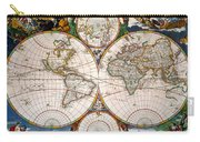 World Map, 17th Century Carry-all Pouch