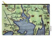 New England Map 1677 Carry-all Pouch
