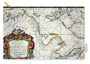 East Indies Map, 1670 Carry-all Pouch