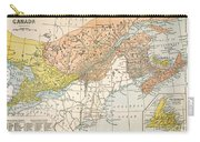 Map: Eastern Canada Carry-all Pouch