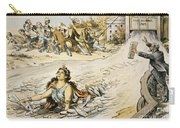 Free Silver Cartoon, 1890 Carry-all Pouch