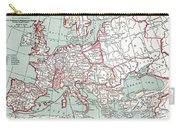 Map Of Europe, 12th Century Carry-all Pouch
