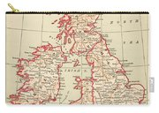 Map: British Isles, C1890 Carry-all Pouch