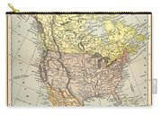 Map: North America, 1890 Carry-all Pouch