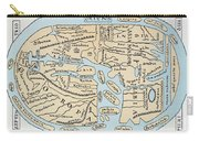 World Map 2nd Century Carry-all Pouch