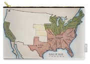 United States Map, 1854 Carry-all Pouch