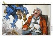 Cartoon: John Bull, C1814 Carry-all Pouch