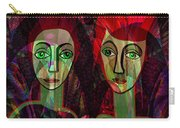 039   Two Pensive Women A Carry-all Pouch