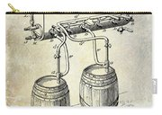 1900 Beer Keg System Patent Carry-all Pouch by Jon Neidert