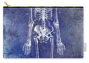 1911 Anatomical Skeleton Patent Blue Carry-all Pouch