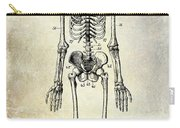 1911 Anatomical Skeleton Patent Carry-all Pouch