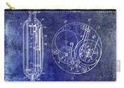 1913 Pocket Watch Patent Blue Carry-all Pouch