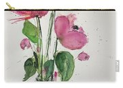 3 Pink Flowers Carry-all Pouch