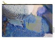 43. Blue Purple White Glaze Painting Carry-all Pouch