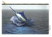 A Blue Marlin Bursts From The Ocean Carry-all Pouch