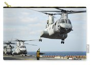 A Ch-46e Sea Knight Helicopter Takes Carry-all Pouch