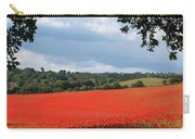 A Field Of Red Poppies Carry-all Pouch