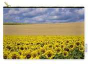 A Field Of Sunflowers . Auvergne. France Carry-all Pouch