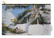 A Garden In Nassau Carry-all Pouch by Winslow Homer