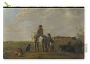 A Landscape With Horseman Herders And Cattle Carry-all Pouch
