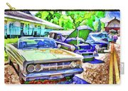 A Line Of Classic Antique Cars 3 Carry-all Pouch