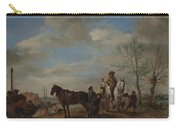A Man And A Woman On Horseback Carry-all Pouch