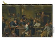 A Riotous Schoolroom With A Snoozing Schoolmaster Carry-all Pouch