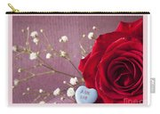 A Rose For Valentine's Day - 2 Carry-all Pouch