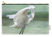A Snowy Egret (egretta Thula) At Mahoe Carry-all Pouch