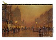 A Street At Night Carry-all Pouch by John Atkinson Grimshaw