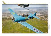 A T-6 Texan And P-51d Mustang In Flight Carry-all Pouch