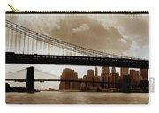 A Tale Of Two Bridges Carry-all Pouch by Joann Vitali