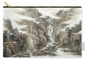 A Waterfall In The Mountains Carry-all Pouch