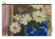 Abbott Graves 1859-1936 Flowers In A Blue Vase Carry-all Pouch