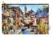 Abstract Canal Scene In Venice L A S Carry-all Pouch