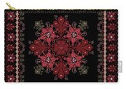 Abstract Ethnic Shawl Floral Pattern Design Carry-all Pouch